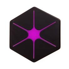 Bezdrátová nabíječka / nabíjecí podložka Qi - šestiúhelník - růžová hvězda / černá