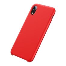 Kryt BASEUS pro Apple iPhone Xr - příjemný na dotek - silikonový - červený