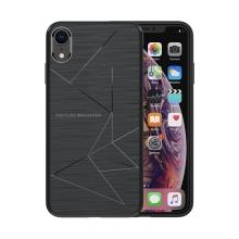 Kryt NILLKIN pro Apple iPhone Xr - vestavěné magnety pro držák do auta / bezdrátovou nabíječku Qi NILLKIN - gumový - černý