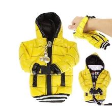Ochranné pouzdro žlutá bunda s kapucí se šňůrkou na krk pro Apple iPhone / iPod a podobná zařízení