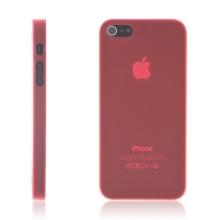 Kryt pro Apple iPhone 5 / 5S / SE - matný - plastový - tenký 0,5 mm - červený