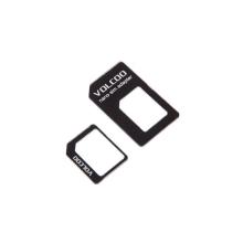 Volcoo redukce z Nano SIM karty na Micro SIM a na standardní SIM kartu - černá
