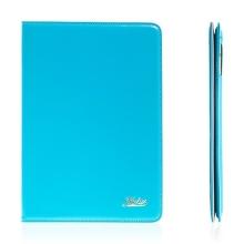 Pouzdro KAKUSIGA pro Apple iPad Air 2 flipové - stojánek a pásek na ruku modré