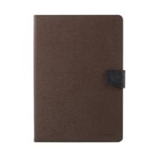 Pouzdro MERCURY Fancy Diary pro Apple iPad Pro 10,5 - stojánek a prostor na doklady - hnědé / černé
