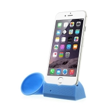 Přenosný silikonový stojánek KALAIXING se zesilovačem zvuku pro Apple iPhone 6 / 6S / 7 - modrý