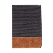 Elegantní pouzdro pro Apple iPad mini 4 + integrovaný stojánek a prostor na doklady - šedé