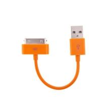 Mini synchronizační a nabíjecí datový kabel pro iPhone / iPod / iPad - oranžový