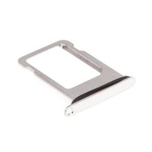 Rámeček / šuplík na Nano SIM pro Apple iPhone Xs - stříbrný (Silver) - kvalita A+