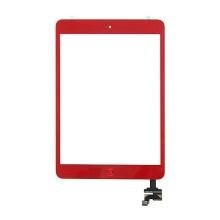 Dotykové sklo (touch screen digi) + IC konektor a flex s Home Buttonem pro Apple iPad mini / mini 2 (Retina) - červené