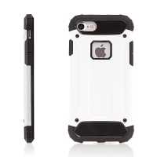 Kryt pro Apple iPhone 7 / 8 plasto-gumový / antiprachová záslepka - bílý