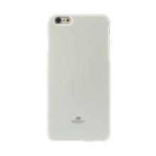 Kryt Mercury Goospery pro Apple iPhone 6 Plus / 6S Plus gumový - bílý s třpytivými prvky