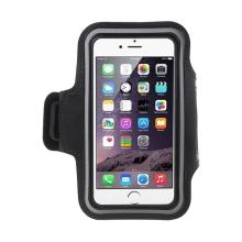 Sportovní pouzdro pro Apple iPhone 6 Plus / 6S Plus - černé + reflexní pruh