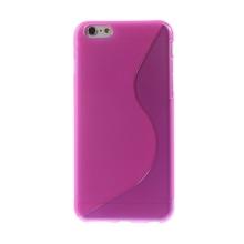 Kryt S line pro Apple iPhone 6 Plus / 6S Plus gumový protiskluzový - růžový