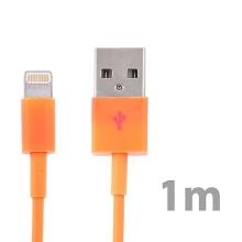 Synchronizační a nabíjecí kabel Lightning pro Apple iPhone / iPad / iPod - oranžový - 1m