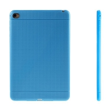 Gumový kryt / pouzdro pro Apple iPad mini 4 - tečkovaný - modrý