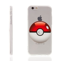 Kryt pro Apple iPhone 6 Plus / 6S Plus gumový - Pokemon Go / Pokeball 3D