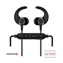 Sluchátka SWISSTEN Active - bezdrátová - Bluetooth 4.2 - mikrofon + ovládání - černá