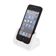 Dock (dokovací stanice) Lightning pro Apple iPhone 5 / 5C / 5S - vysoký - bílý