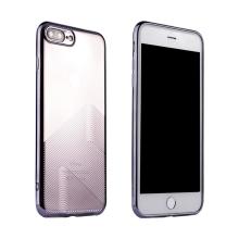 Kryt SULADA pro Apple iPhone 7 Plus / 8 Plus - gumový - průhledný / tmavě fialový