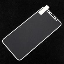 Tvrzené sklo (Tempered Glass) pro Apple iPhone X / Xs - na přední stranu - bílý rámeček s texturou - 0,3mm