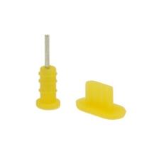 Antiprachové záslepky pro Apple iPhone - žluté