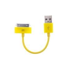 Mini synchronizační a nabíjecí datový kabel pro iPhone / iPod / iPad - žlutý