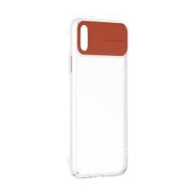 Kryt BASEUS pro Apple iPhone Xs - gumový - průhledný / hnědý