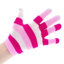 Rukavice pro ovládání dotykových zařízení - pruhované 4-barevné světlé