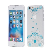 Kryt KINGXBAR Swarovski pro Apple iPhone 6 / 6S plastový - modrý