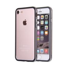 Rámeček / bumper pro Apple iPhone 7 / 8 - guma / plast - průhledný / černý