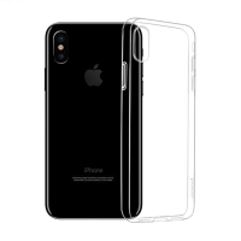 Kryt HOCO pro Apple iPhone X - gumový - průhledný