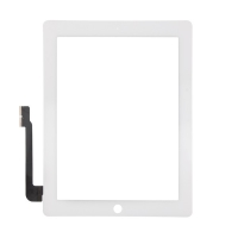 Přední dotykové sklo (touch screen) pro Apple iPad 3. / 4.gen. - bílý rámeček - kvalita A+