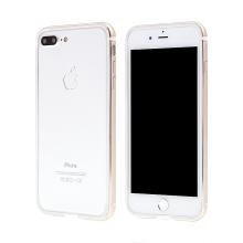 Rámeček / bumper s ochranou kamery pro Apple iPhone 7 Plus / 8 Plus - guma / hliník - zlatý