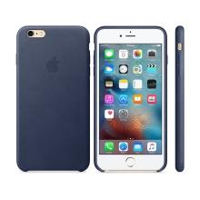 Originální kryt pro Apple iPhone 6 Plus / 6S Plus - kožený - půlnočně modrý