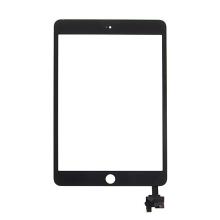 Přední dotykové sklo (touch screen) s IC konektorem pro Apple iPad mini 3 - černé - kvalita A