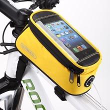 Sportovní pouzdro na kolo ROSWHEEL pro Apple iPhone 6 / 6S / 7 / 8 / X - žluté