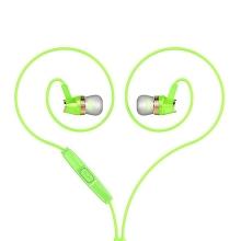 Sluchátka HOCO M4 pro Apple a další zařízení - ovládání + mikrofon - zelená