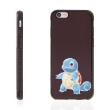 Kryt pro Apple iPhone 6 / 6S - kovový povrch - gumový - Pokemon Go / Squirtle 2