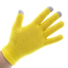 Rukavice pro ovládání dotykových zařízení - žluté