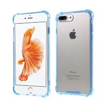 Kryt pro Apple iPhone 7 Plus / 8 Plus - plastový / gumový - průhledný / modrý