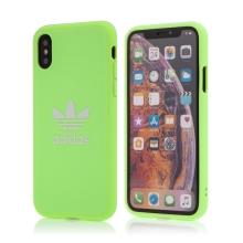 Kryt ADIDAS Originals pro Apple iPhone X / Xs - gumový - látkový - svítivě zelený