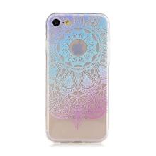 Kryt pro Apple iPhone 7 / 8 - gumový - průhledný - duhová mandala