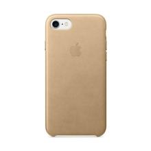 Originální kryt pro Apple iPhone 7 / 8 - kožený - žlutohnědý