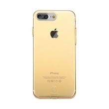Kryt Baseus pro Apple iPhone 7 Plus / 8 Plus gumový / antiprachové záslepky - zlatý průhledný
