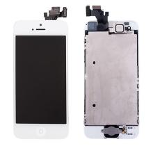 Kompletně osazená přední čast (LCD panel, touch screen digitizér atd.) pro Apple iPhone 5 - bílý - kvalita A