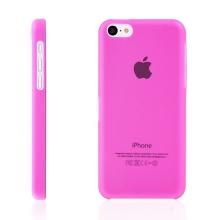Ultra tenký ochranný kryt pro Apple iPhone 5C (tl. 0,3 mm) - plastový - matný - růžový