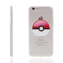 Kryt pro Apple iPhone 6 / 6S gumový - Pokemon Go / Pokeball - červený