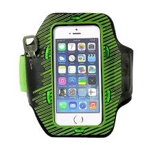 Sportovní svítící pouzdro s LED diodami pro Apple iPhone 5 / 5C / 5S / SE - černo-zelené