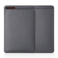 Pouzdro / obal pro Apple iPad Pro 10,5 / Pro 9,7 a další modely iPad - kapsa na Apple Pencil / tužku - umělá kůže - šedé