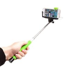 Teleskopická selfie tyč / monopod KJstar - kabelová spoušť - zelená